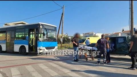 LamiaReport.gr: Τροχαίο με αστικό λεωφορείο μέσα στην πόλη