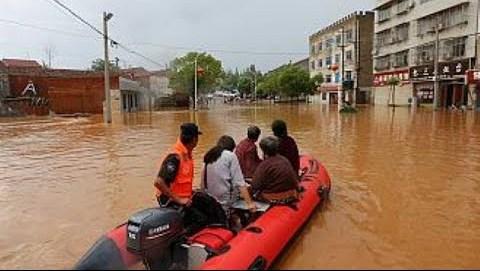 Σφοδρές πλημμύρες στη Βόρεια Κίνα