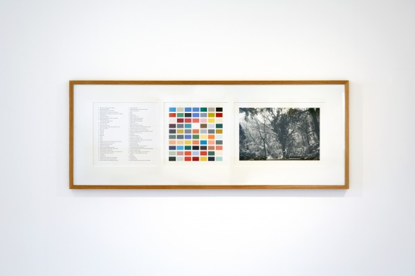 Alison Turnbull, Orto Botanico, 2002/2011. Archival inkjet print, gouache and pencil on paper, black and white photograph. Photograph Talbot Rice Gallery & Chris Park, 2012. On exhibition at Talbot Rice Gallery until 5 May 2012.