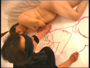 Anne Bean, Drawing Life, 2006.  Video still.