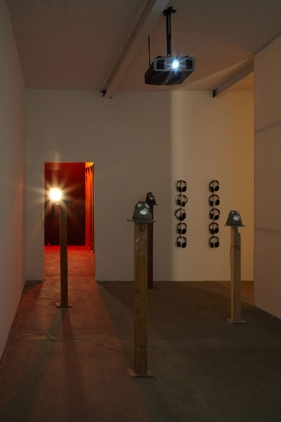 Benedict Drew, The Persuaders, 2011. Installation view at Matt's Gallery, 2012. Photograph by Peter White.