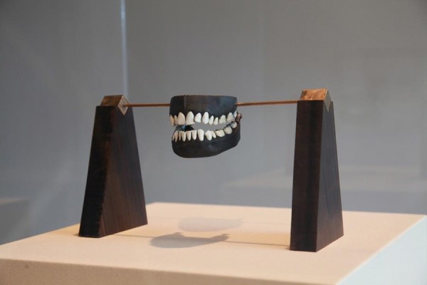 Graham Fagen, Our Shared, Common, Private Space, 2011. Bronze, enamel and ebony. 70 x 21 x 21 inches.