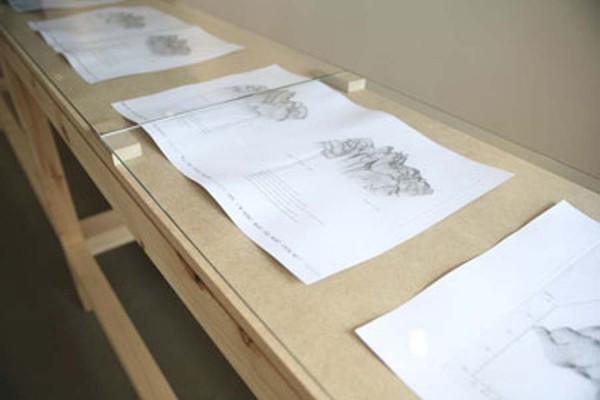 Imogen Stidworthy, Topography of a Voice, copperplate and offset prints, installation view, 2008-9.