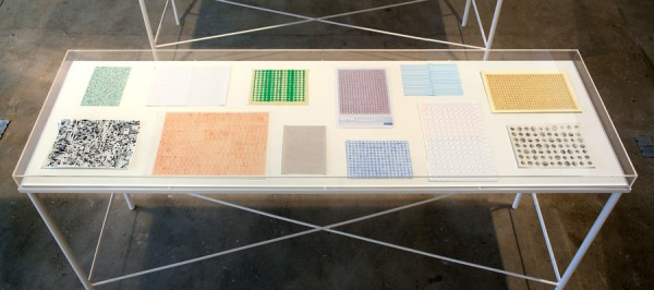 Alison Turnbull, Drawing Table I, 2010. Installation view at Matt's Gallery.