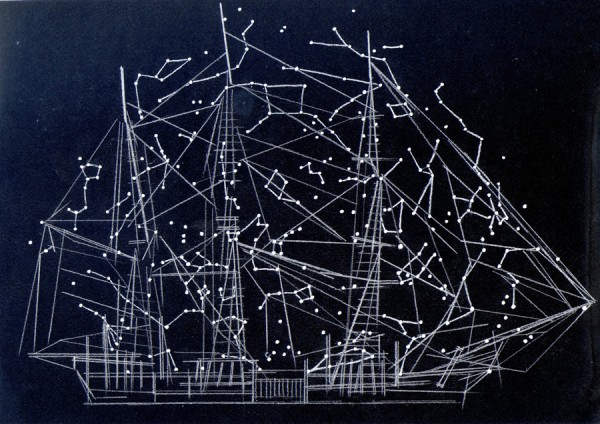Alison Turnbull, Navigating Moby Dick, 2012. Ink and pencil on paper.