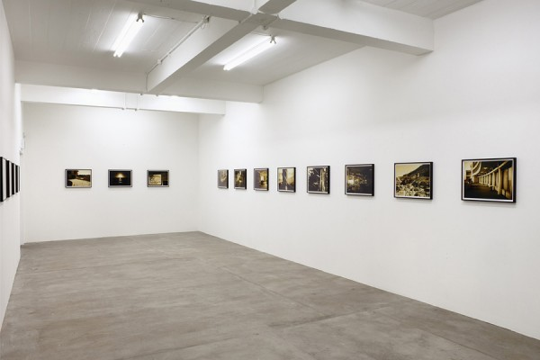 Graham Gussin, Lens, 2012. Installation view at Matt's Gallery. Photograph by Peter White. On exhibition until 21 October 2012.