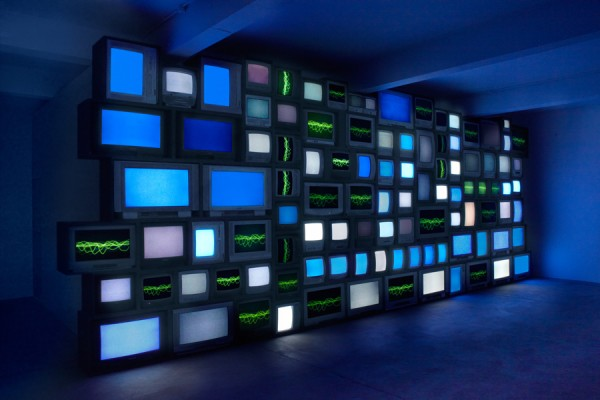 Susan Hiller, Channels, 2013. Installation photograph by Peter White, courtesy the artist, Timothy Taylor Gallery and Matt's Gallery, London