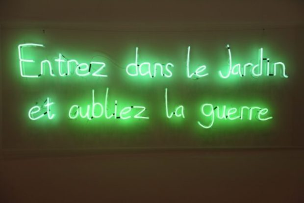 Graham Fagen, Guerre/Jardin, 2014. Image courtesy the artist and Matt's Gallery, London.