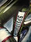 """Jeff C. Williams. """"Vanilla Speedvagen."""" Acrylic on canvas. $400 (Shanley Chien/Medill)"""