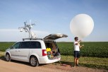 A weather balloon is launched from a farmer's field in northern Kansas on the last night of the PECAN project. The last night brought a perfect storm that contained all objectives scientists wanted to study during the project to better understand storm triggers.