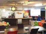 In the morning, the Samurai Startup Island is quiet. Most entrepreneurs who have office space in the startup incubator spend their mornings in on-site meetings with investors and clients. (Photo by Katherine Lee/MEDILL)