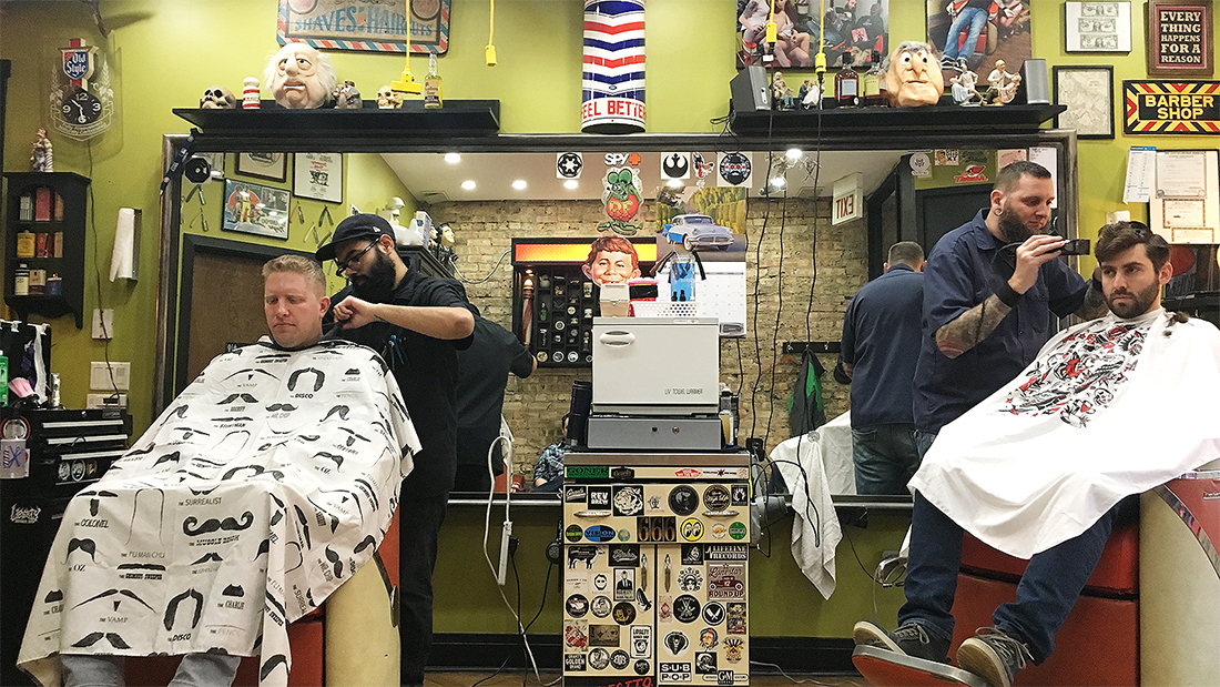 Customers Go To Petes Barber Shop For The Haircut But