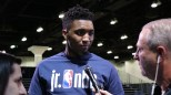 Utah Jazz rookie Donovan Mitchell had votes from De'Aaron Fox and John Collins. (Serena Yeh/MEDILL)