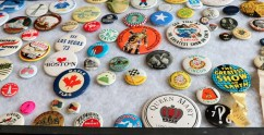 Buttons showcase and promote events.(Annanya/MEDILL)