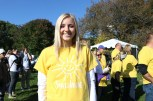 "Sami Mikret, a 19-year-old college student from Schererville, Indiana, was diagnosed with an eating disorder six months ago, and this was her first-ever NEDA walk. ""I just got out of treatment,"" Mikret said. ""It's a celebration."" (Colleen Zewe/MEDILL)"