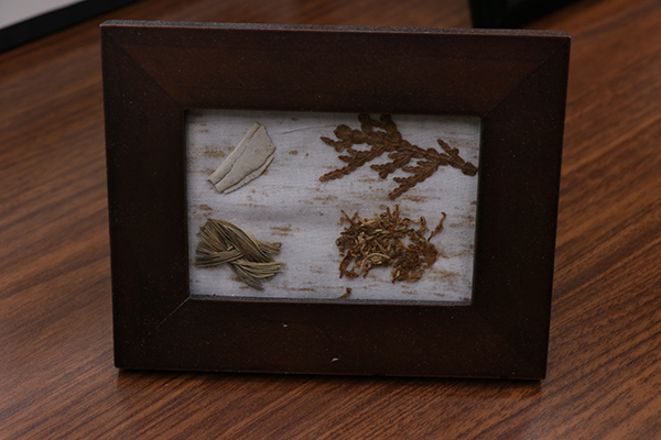 A collection of medicines that Native people use for Smudging. (Lu Zhao/Medill)
