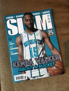 SLAM's special All-Star weekend print edition featured Charlotte star. (John Alfes/Medill) DonlanKemba Walker