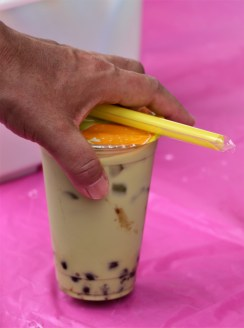 Bubble tea is a Taiwanese tea-based drink that includes an addition of tapioca balls. The drinks popularity has spread to other cultures and can now be found throughout Asia.(Stephanie Fox)