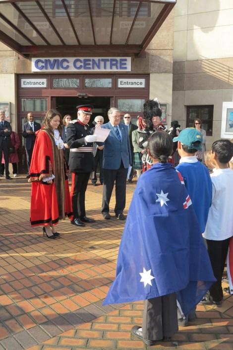 Commonwealth flag raising ceremony