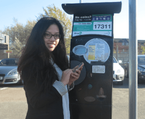 using the new free RinGo app at York Close car park, Morden