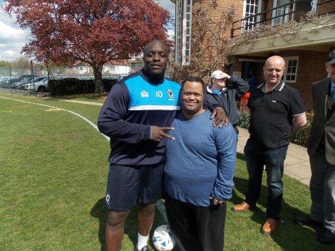 AFC Wimbledon Wayne Lecky Akinfenwa