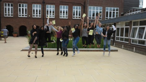 Ursuline girls celebrate their results 2016