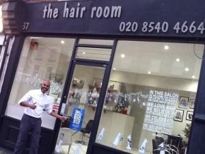 Karthee Munusamy, owner of the Hair Room.