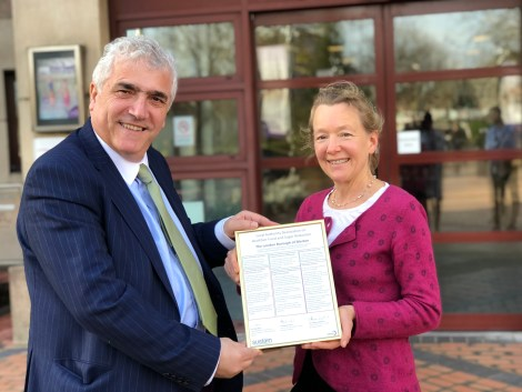 merton council signs local authority declaration 1