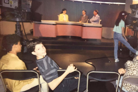 Javier Morgado visited WPLG—Local 10 during a school field trip in 1990.