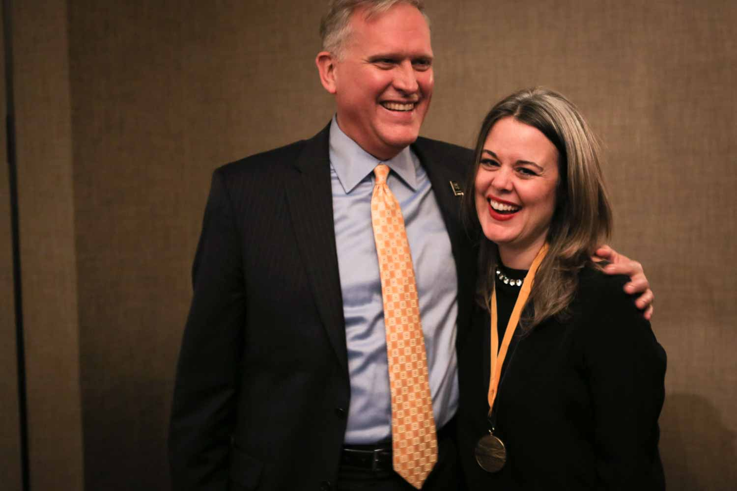 2015 Mizzou Honor Medal    Mizzou News    University of Missouri Dean David Kurpius and CNN s Digital editor in chief Meredith Artley