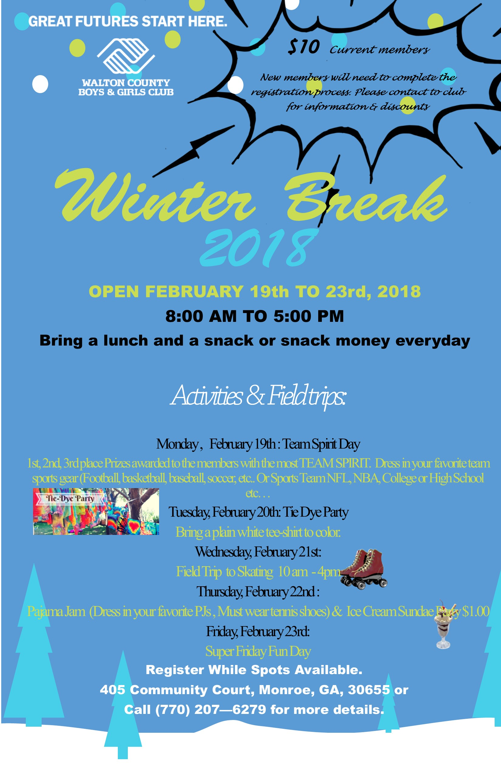 Flyer Winter Break 2018