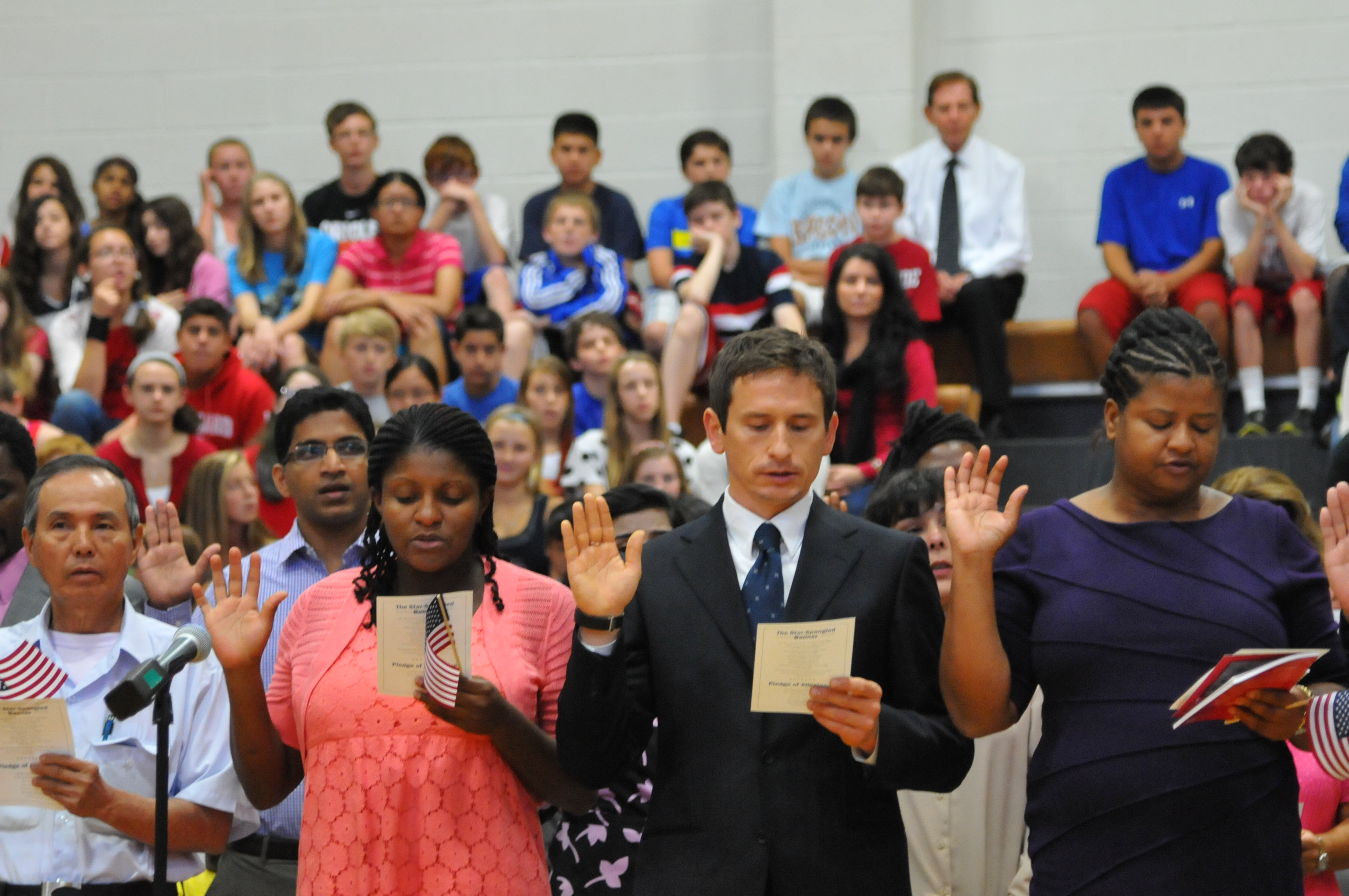 Students Participate In Naturalization Ceremony At Rosa
