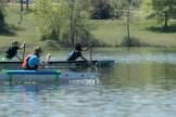 The Concrete Canoe Design Team races at Little Prairie Lake on Saturday April 23, 2016. Sam O'Keefe/Missouri S&T