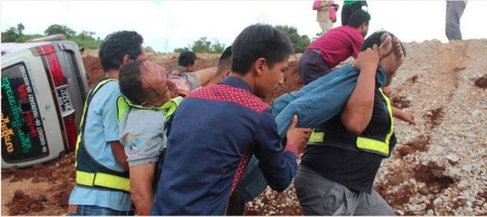 미얀마 반군, 민간인 공격