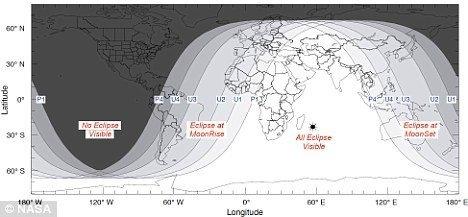 红色月全食观测时间及地点攻略