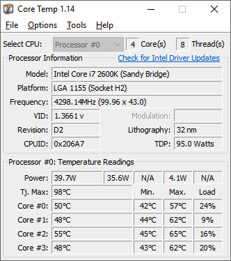 Windows 10でCPUの溫度を調べるツール5選と対処方法 | マイナビ ...