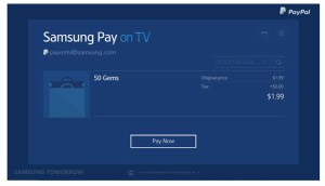 Samsung Pay has arrived; as Samsung Pay on TV