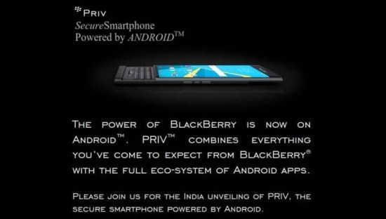 Blackberry Priv India Launch January 28 Image 1 Naija Tech Guide