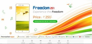 Freedom 251 World's cheapest smartphone launches in India for Rs. 251