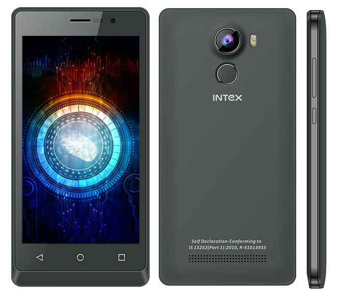 Intex Aqua Secure grey -naijatechguide