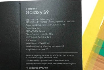 Samsung Galaxy S9 specifications leaked online ahead of MWC debut
