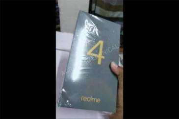 An alleged retail box of the Realme 4 surfaces in new YouTube video
