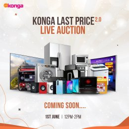 Konga announces date for its second live auction.