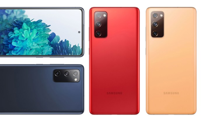 Leaked renders reveal the multiple colour variants of the Samsung Galaxy S20 FE (Fan Edition).