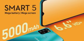Infinix launches the Smart 5 smartphone in Nigeria and India.