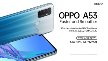 OPPO launches the OPPO A53 budget smartphone in India.