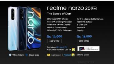 Realme Officially Announces the Narzo 20, Narzo 20A, and Narzo 20 Pro Smartphones in India