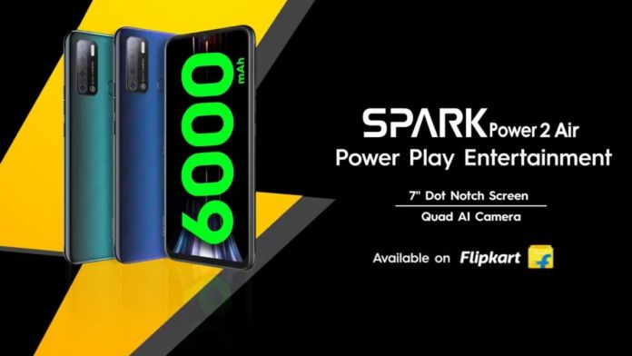 Tecno Unveils the Spark Power 2 Air in India; To go on Sale on September 20