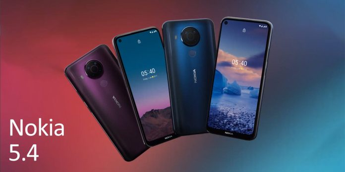 HMD Global Finally Unveils the Nokia 5.4 Smartphone in Europe for 189 Euros
