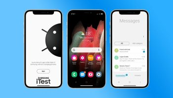 Samsung allows you transform your iPhone to a Samsung Android with iTest